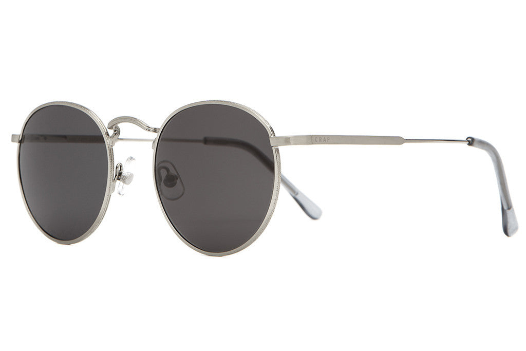 The Tuff Patrol - Brushed Silver Wire & Smoke Grey Tips - w/ Grey CR-39 Lenses - Sunglasses