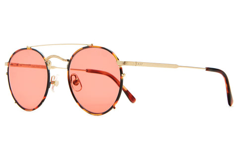 The Tuff Safari - Brown Tortoise Rims / Gold Stems & Gloss Brown Tortoise Tips - w/ Zero Base Deep Rose CR-39 - Sunglasses