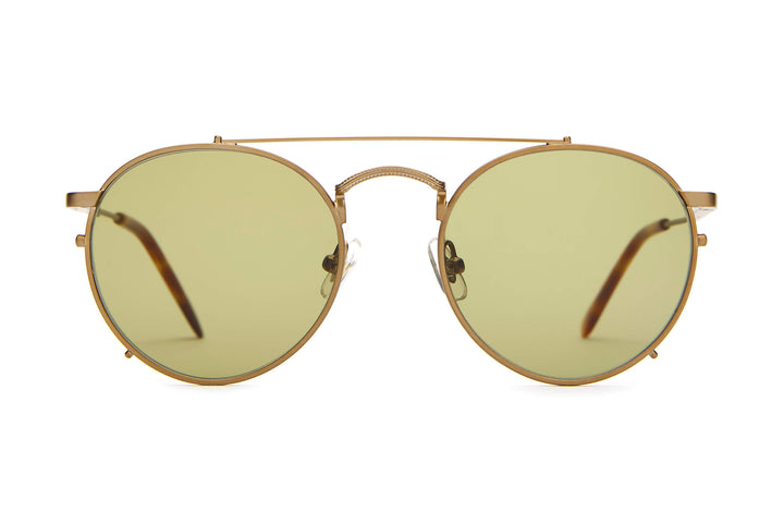 The Tuff Safari - Brushed Copper & Havana Tortoise - / Olive - Sunglasses