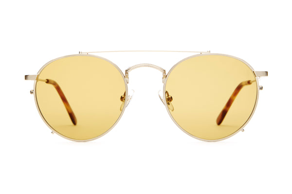 The Tuff Safari - Brushed Gold & Havana Tortoise - / Mustard - Sunglasses