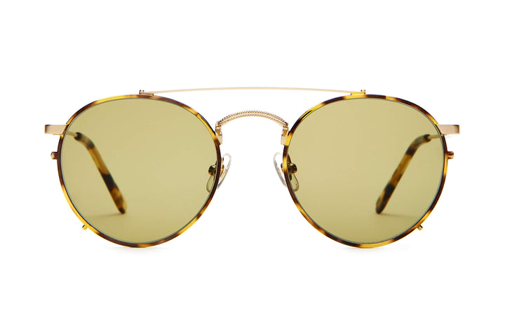 The Tuff Safari - Brushed Gold & Tokyo Tortoise - / Olive - Sunglasses