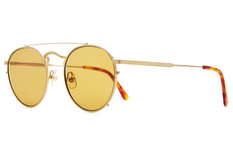 The Tuff Safari - Brushed Gold & Gloss Havana Tortoise Tips - w/ Zero Base Mustard Lenses - Sunglasses