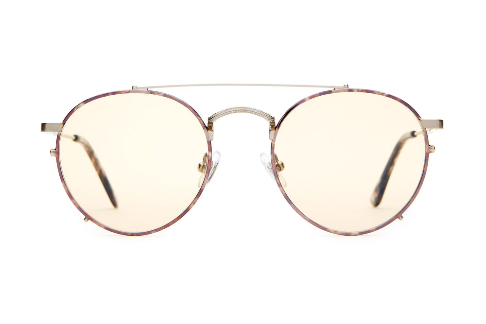 The Tuff Safari - Brushed Silver & Espresso Tortoise - / Gold Tint - Sunglasses