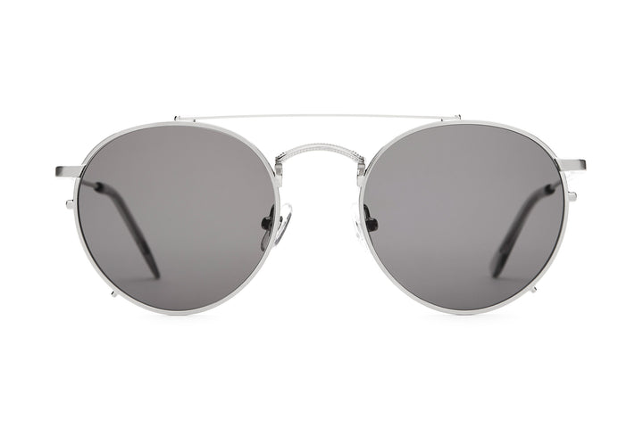 The Tuff Safari - Brushed Silver & Smoke - / Grey - Sunglasses
