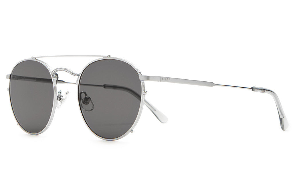 The Tuff Safari - Brushed Silver Wire & Smoke Grey Tips - w/ Zero Base Grey CR-39 Lenses - Sunglasses