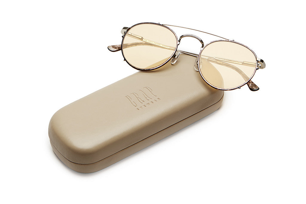 The Tuff Safari - Espresso Rims & Brushed Silver Wire - w/ Zero Base Gold Tint CR-39 Lenses - Sunglasses