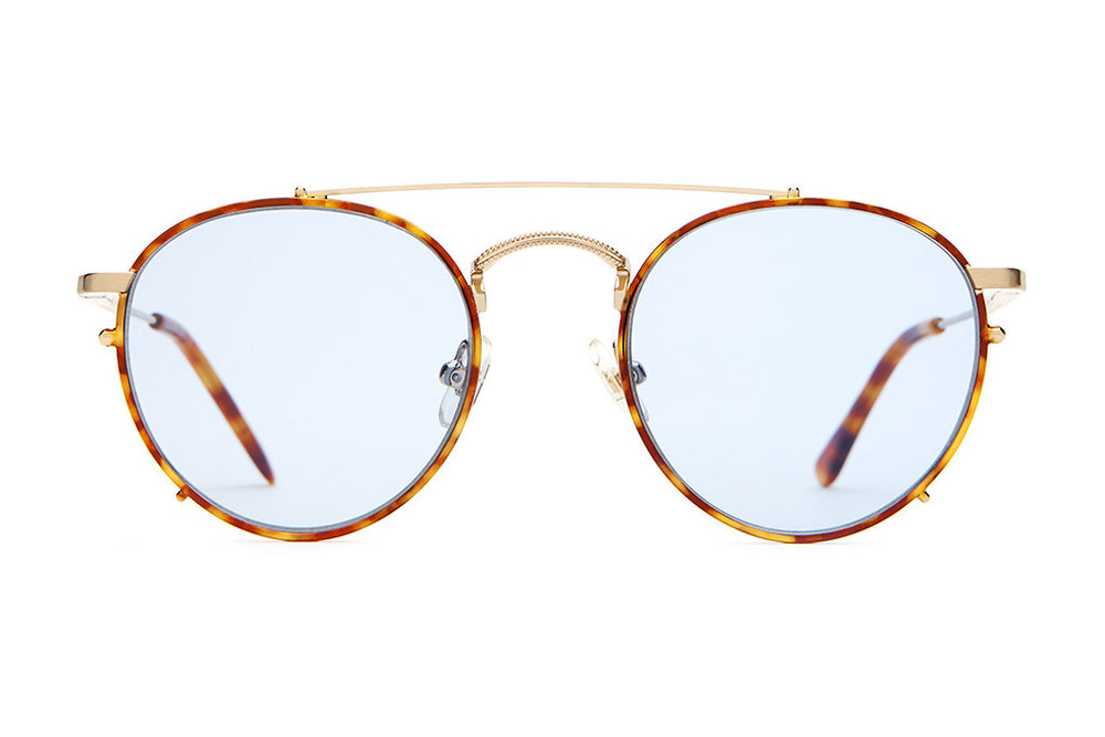 The Tuff Safari - Brushed Gold & Havana Tortoise - / Light Blue - Sunglasses