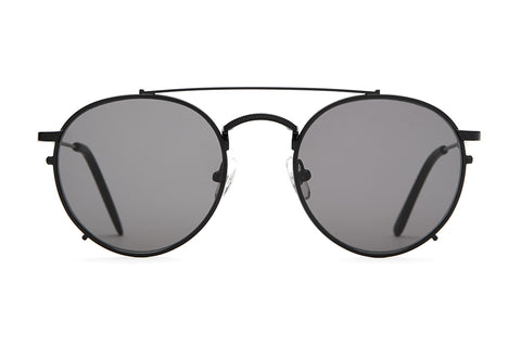 The Tuff Safari - Ron Herman Matte Black Wire & Tips - w/ Zero Base Grey Lenses - Sunglasses