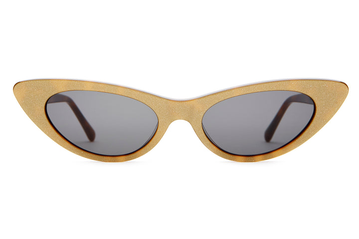 The Ultra Jungle - Gold Glitter & Tortoise - / Grey - Sunglasses