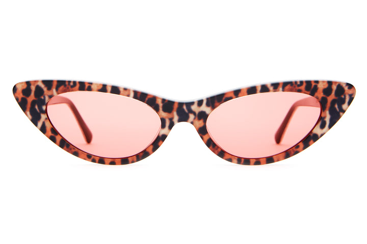 The Ultra Jungle - Leopard - / Cherry Red - Sunglasses