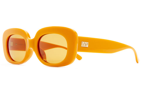 The Velvet Mirror - Cobra Snake Gloss Tangerine - w/ Mustard CR-39 Lenses - Sunglasses