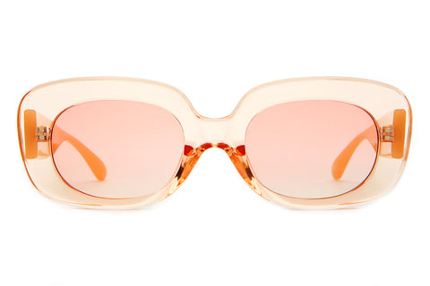 The Velvet Mirror - Crystal Peach & Pearl Stems - w/ Peach Gradient CR-39 Lenses - Sunglasses