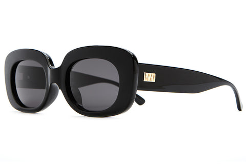 The Velvet Mirror - Gloss Black - w/ Grey CR-39 Lenses - Sunglasses