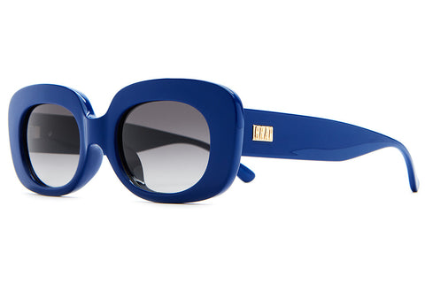 The Velvet Mirror - Gloss Sapphire Blue - w/ Grey Gradient CR-39 Lenses - Sunglasses
