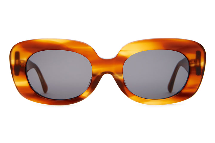 The Velvet Mirror - Havana Demi Tortoise - / Grey - Sunglasses