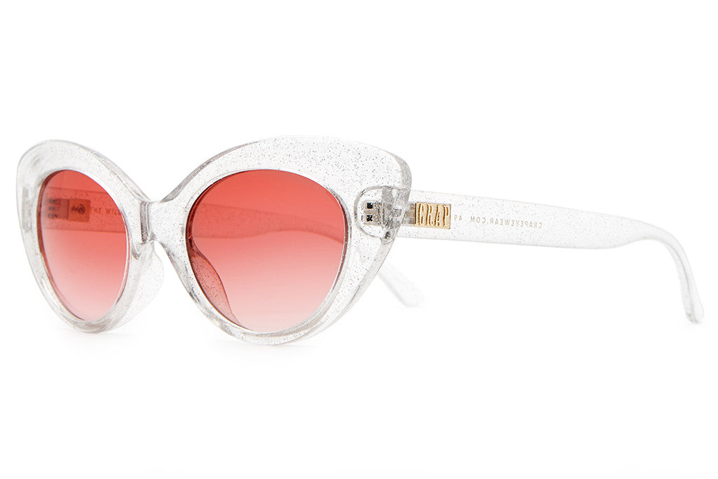 The Wild Gift - Crystal Glitter - w/ Rose Gradient CR-39 Lenses - Sunglasses