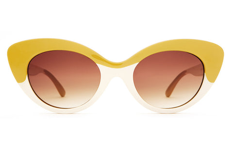 The Wild Gift - Gloss Cream & Caramel - w/ Amber Gradient Lenses - Sunglasses
