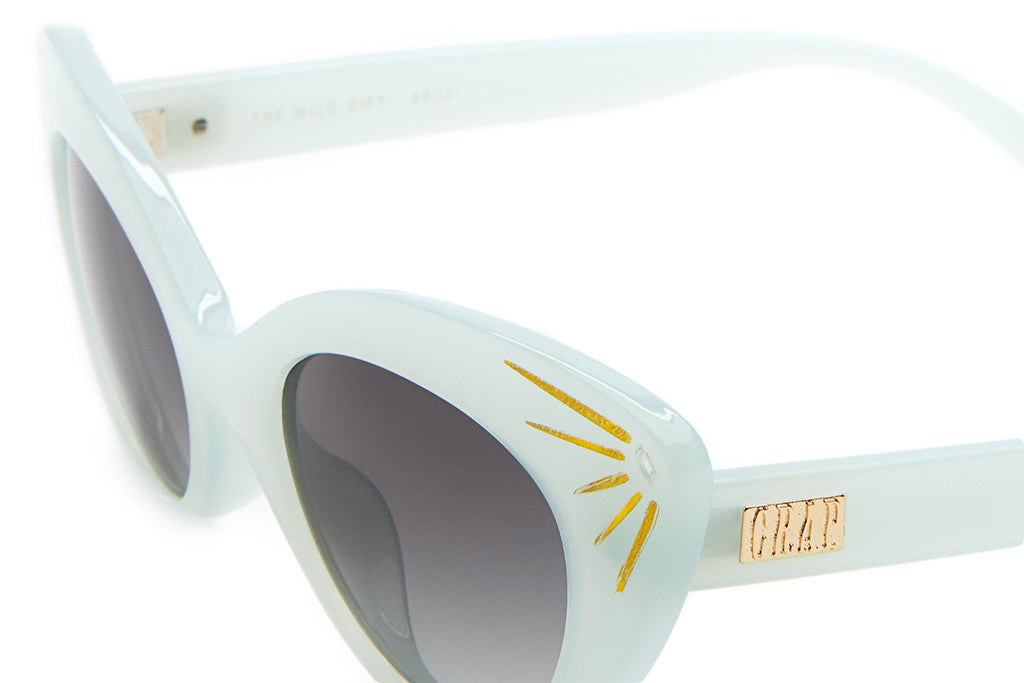 The Wild Gift - Powder Blue & Sunray Accents - w/ Grey Gradient CR-39 Lenses - Sunglasses