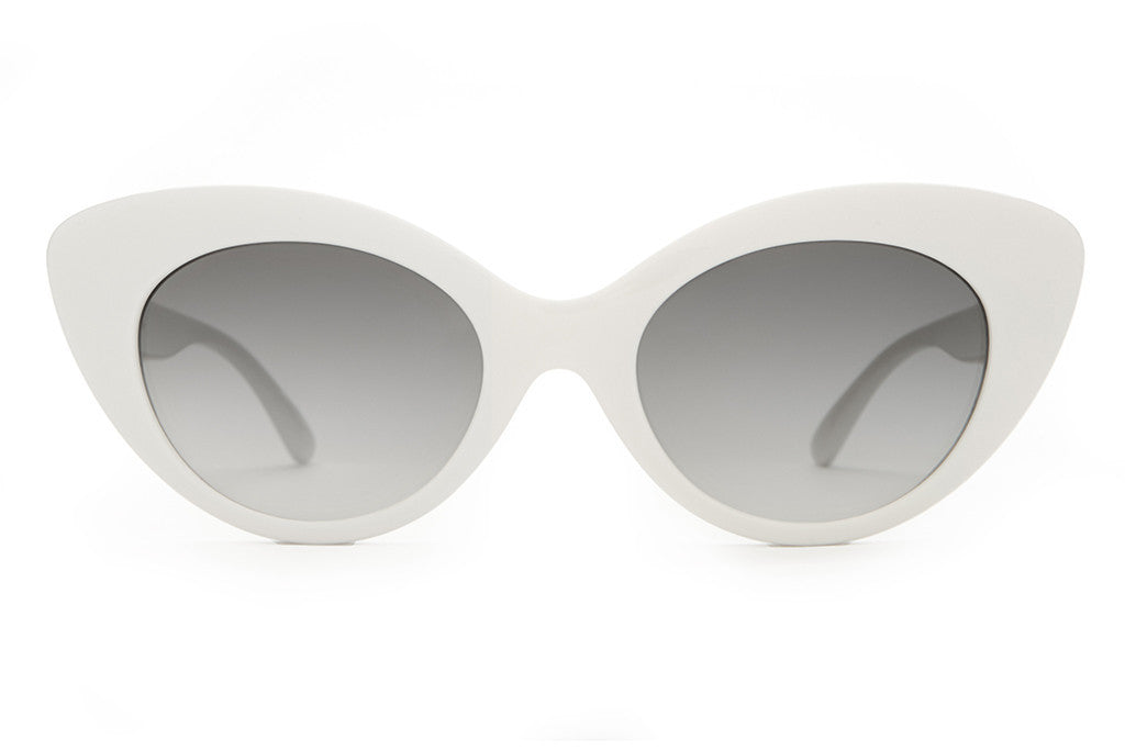 The Wild Gift - Gloss White - w/ Grey Gradient CR-39 Lenses - Sunglasses