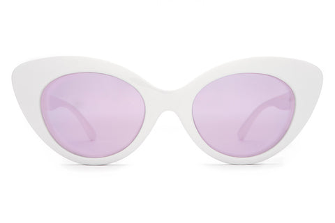 The Wild Gift - Gloss White - w/ Lilac Mirror Lenses - Sunglasses