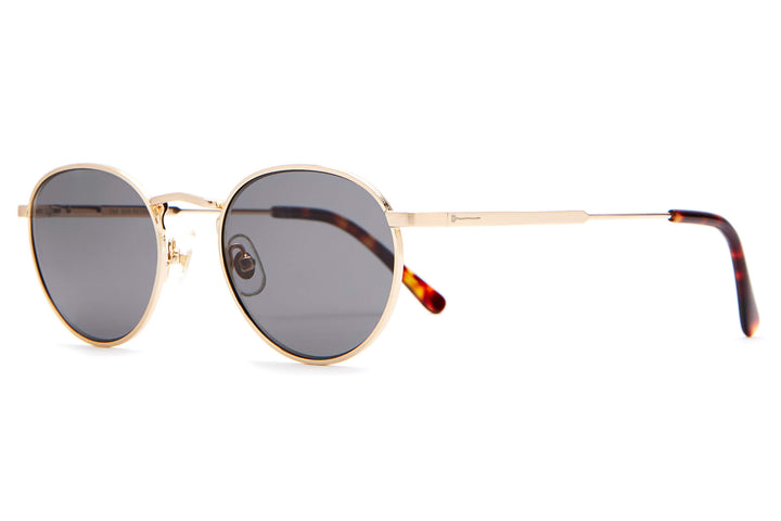 The Zen Patrol - Brushed Gold & Dark Tortoise - / Polarized Grey - Sunglasses