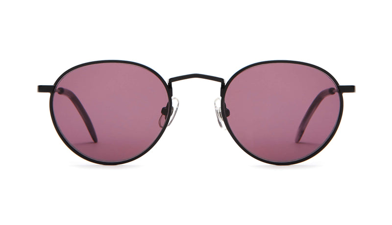 The Zen Patrol - Matte Black & Smoke Demi Tortoise - / Plum - Sunglasses