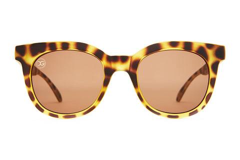 The Pop Control - X-Girl Matte Jungle Tortoise - w/ Amber CR-39 Lenses - Sunglasses