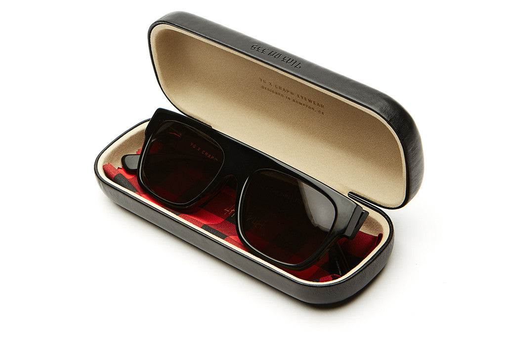 The YG Loc - Gloss Black Acetate - w/ Grey CR-39 Lenses - Sunglasses