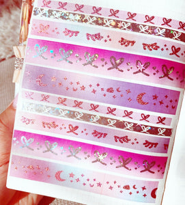 * LOW STOCK * birthday GLAM - 5 washi tapes - MARCH MADNESS SALE!
