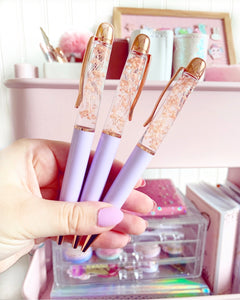 BLOOM lilac pen- *special limited edition luxe real flower pen*