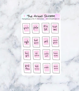 Bossbabe Journaling Card Stickers