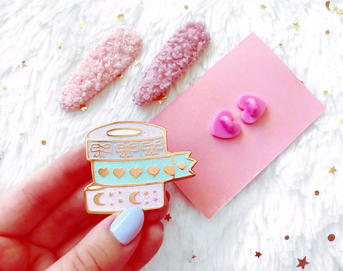 * 1 left * Chic Washi Tape Enamel Pin *LIMITED EDITION*