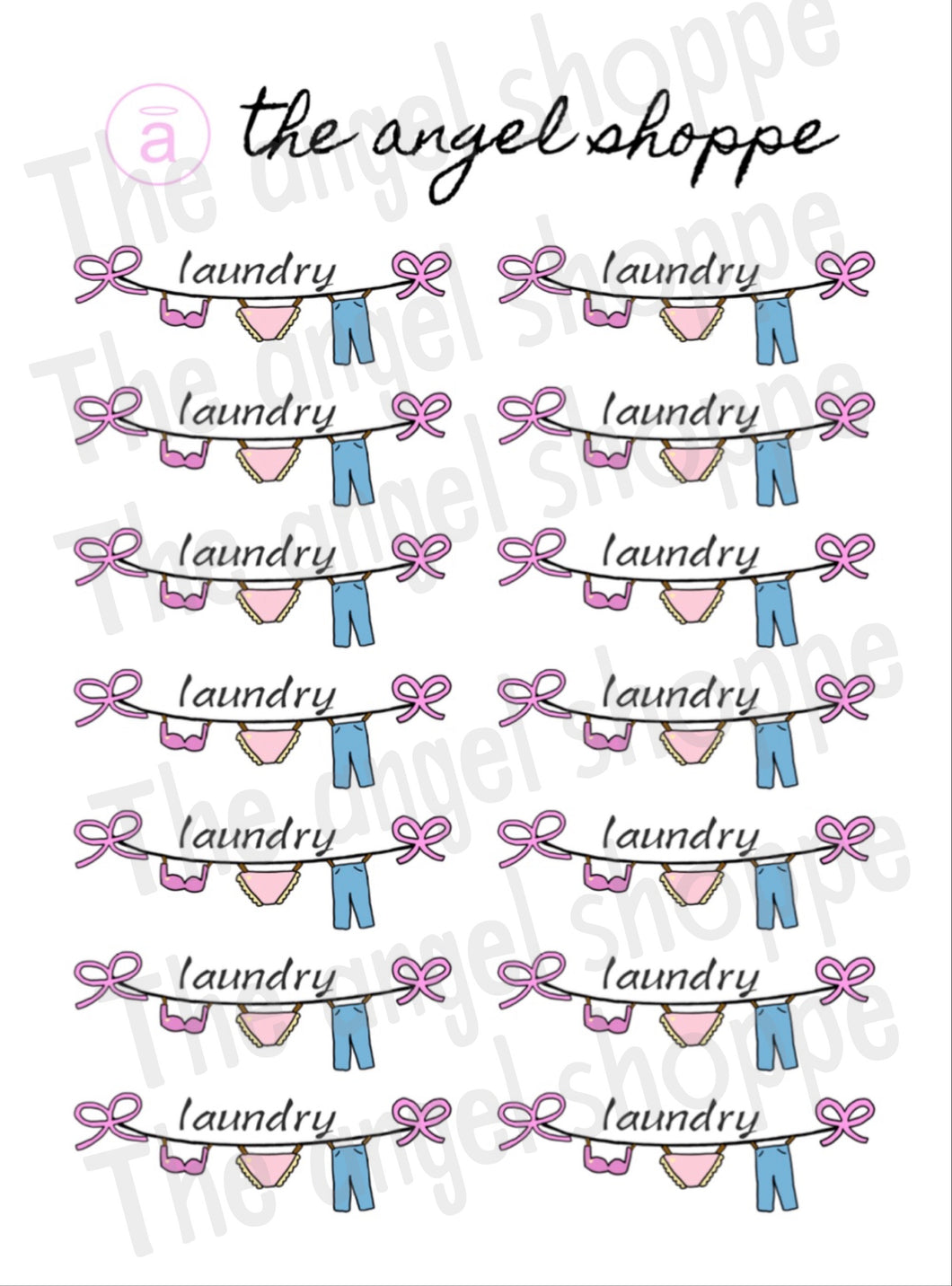 laundry stickers