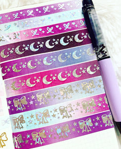 * LOW STOCK * BOO washi tapes