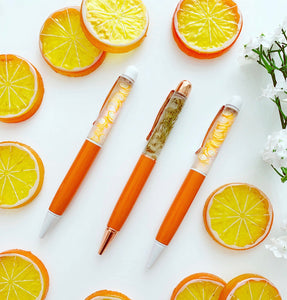 * low stock * ORANGE BLOSSOM PENS *limited edition*