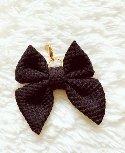 * low stock * black waffle bow charm: BOO collection