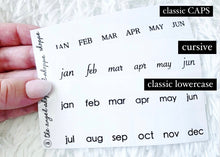 classic black tabs- clear stickers