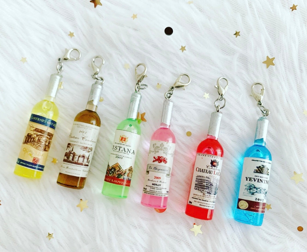 * low stock * wine charms