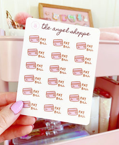 pay bill/ credit card stickers *NEW*