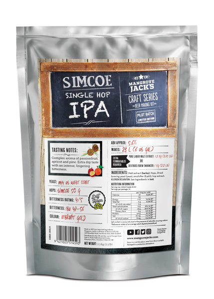 Simcoe Single Hopped IPA (Limited Edition) - Mangrove Jacks