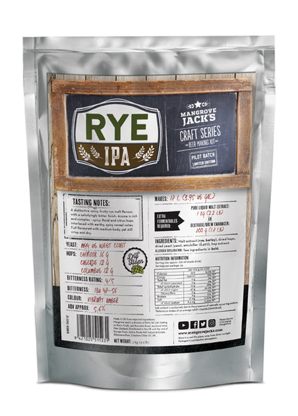 Rye India Pale Ale (Limited Edition) - Mangrove Jacks