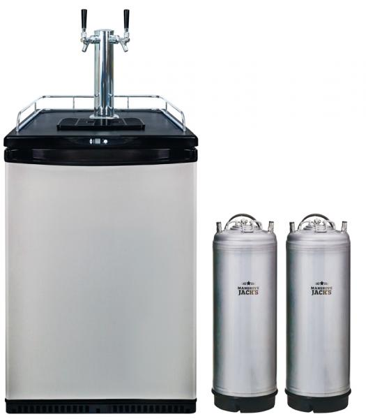 2 Tap Kegerator + Kegs - Grainfather