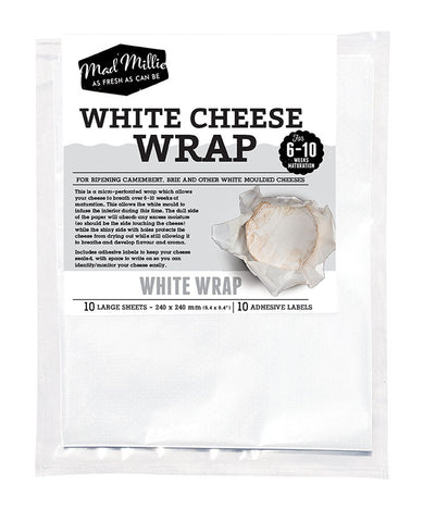 White Cheese Wrap (10 Sheets) - Mad Millie