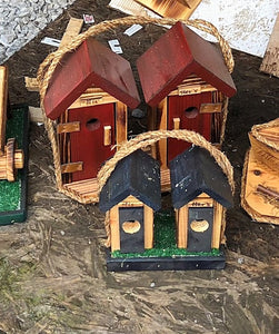 His & Her Outhouse Birdhouse - Small