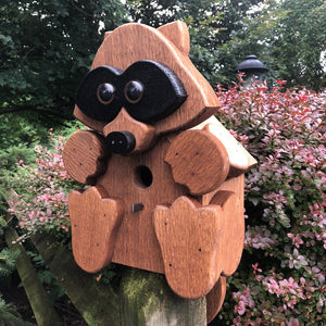 Raccoon Birdhouse | Hand Made from Reclaimed Wood