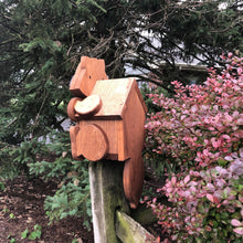 Load image into Gallery viewer, Raccoon Birdhouse | Hand Made from Reclaimed Wood
