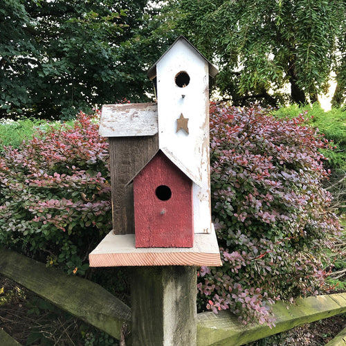 Rustic Birdtown Birdhouse | Amish Made