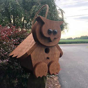 Owl Birdhouse | Hand Made from Reclaimed Wood