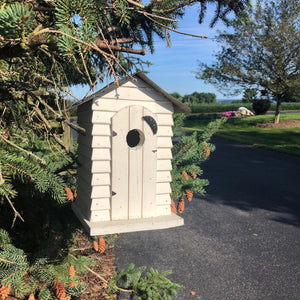 Outhouse Birdhouse | Made from Reclaimed Materials