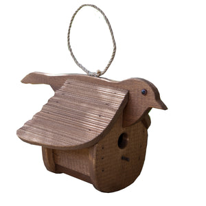 Hanging Finch Birdhouse | Hand Made from Reclaimed Wood | BH5F